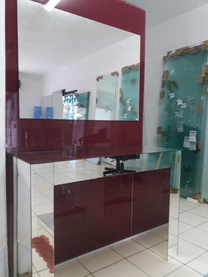 3 Itens Espelhados ! $ 959.00 Aparador +espelho+mesa De Cen