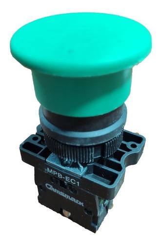 Pack Pulsador Tipo Hongo Mpb-ec1 1n/a 22mm Verde