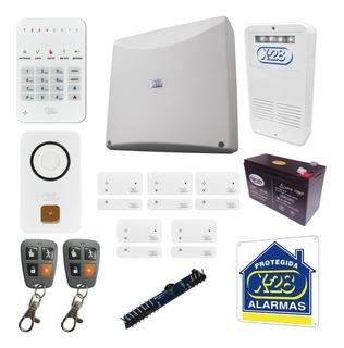 Kit Alarma Casa X28 Full 8 Zonas Inalambrica Domiciliaria