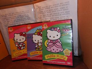 Pack 3 Películas Dvd Hello Kitty Princesa, Mgm Kidz