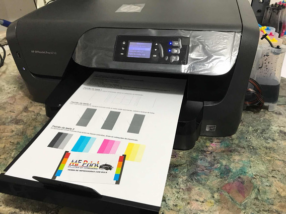 Impressora Hp 8210 Pro Com Bulk 200ml Tinta Corante