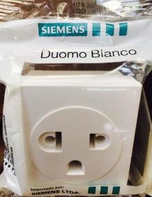08 Módulos De Tomada Padrão Antigo Siemens Duomo Bianco