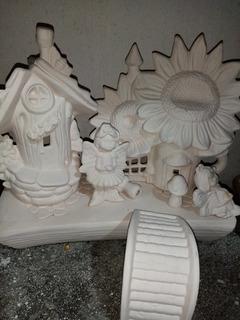Casa Adas Tulipan O Girasol Cerámica Blanco