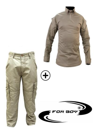 Farda Tática Combat Shirt +calça Camuflada Multicam Airsoft