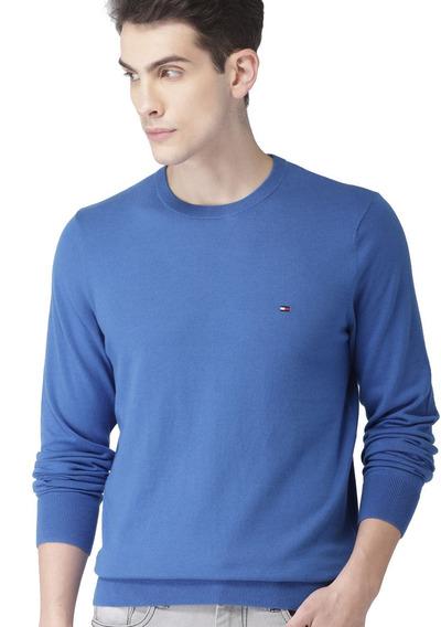 Suéter Tommy Hilfiger Classic Cotton Blue Quartz