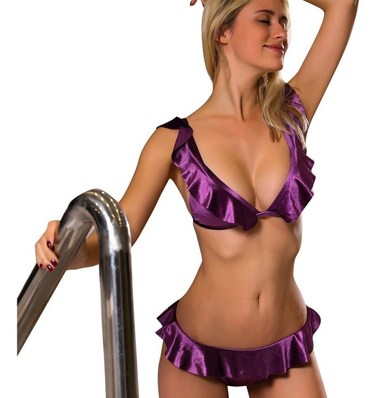 Conjunto De Bikini Con Volados, Estilo Sensual, Tallas S-l