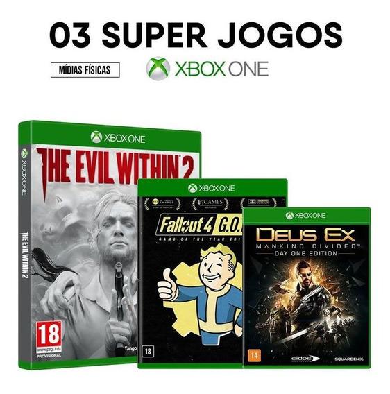 The Evil Within 2 + Fallout 4 + Deus Ex - Xbox One Originais