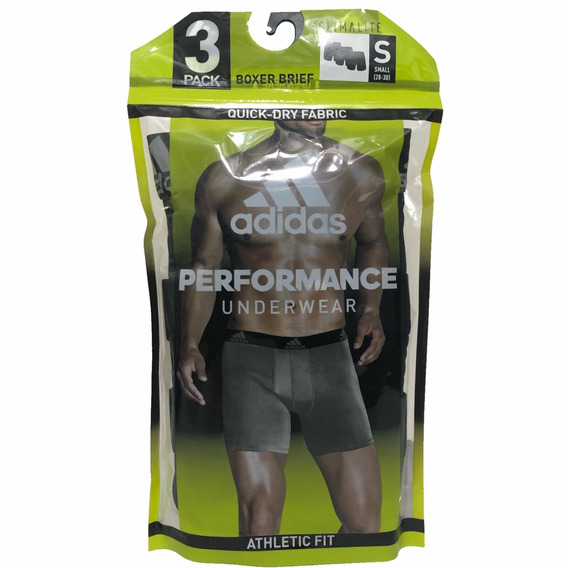 Boxer adidas Pack 3p Brief Climalite Athletic Fit Deportivos