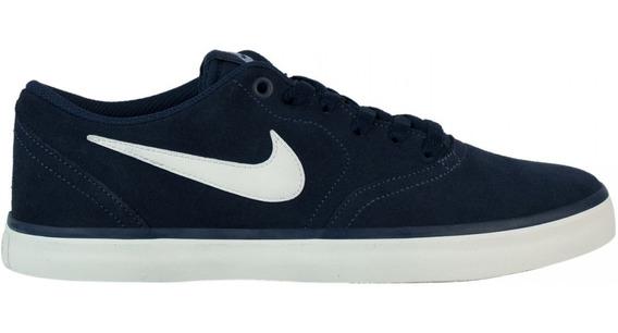 Tênis Masculino Nike Sb Check Solar Nobuck 843895 Original