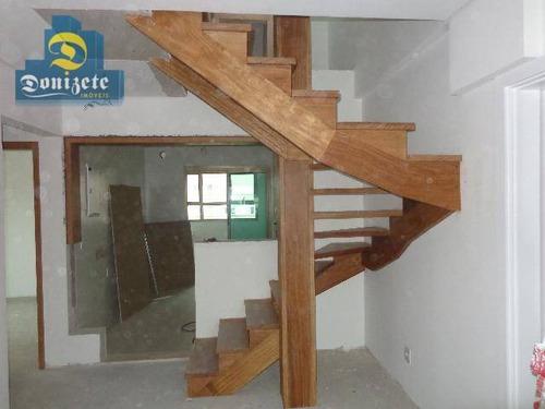 Cobertura Com 2 Dormitórios À Venda, 120 M² Por R$ 850.000,00 - Campestre - Santo André/sp - Co1487