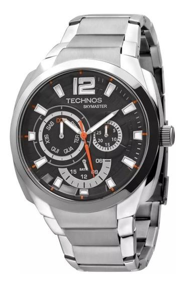 Relógio Masculino Technos Skymaster 6p29ahi/1p 46mm Prata