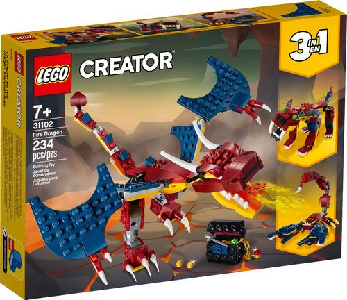 Cr Dragón Escupefuego Lego - 31102