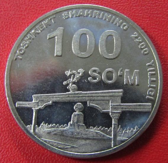 Uzbekistan Moneda 100 Som 2009 Unc Toshkent