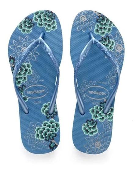 Ojotas Havaianas Slim Organic Azul 4132823 5434 Mujer Dama