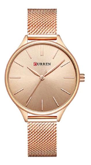 Relógio De Pulso Curren Feminino Modelo 9024