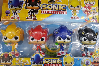 Sonic Boom Pop Blister X 4 Unidades 8cm Local Caba