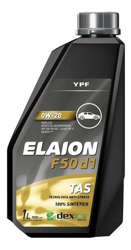 Imagen 1 de 9 de Ypf Aceite Sintetico F50 Dexos I 0w20 Elaion Envase 1 Litro.