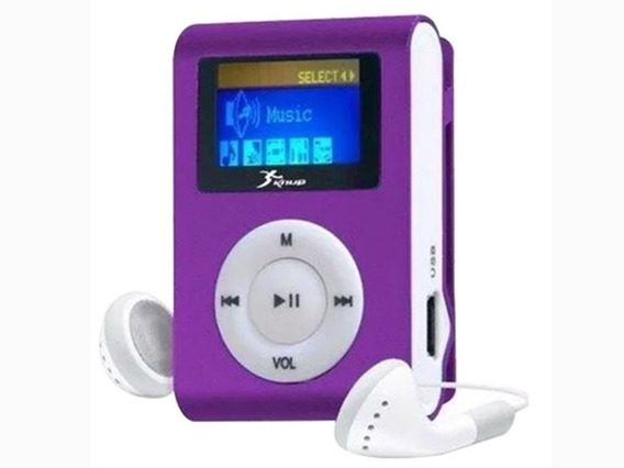 Mini Mp3 Player Clip Cabo Usb Fone Completo Promocao
