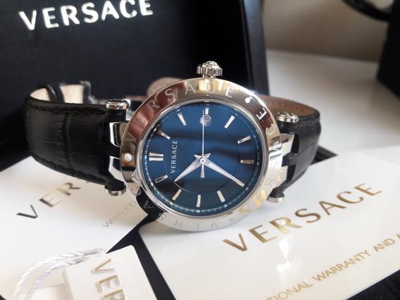 Relógio Versace Full Size Novíssimo Com Estojo Completo