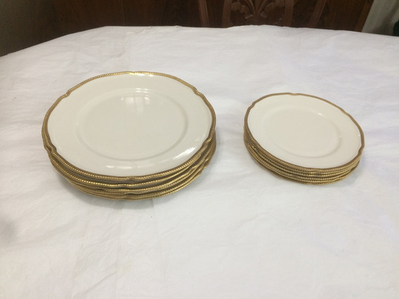 Juego De Platos Porcelana Francesa De Sevres 12 Unidades