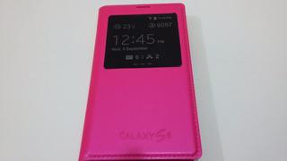 Capa Case S-view Galaxy S5 - Rosa - Fotos Reais Do Produto