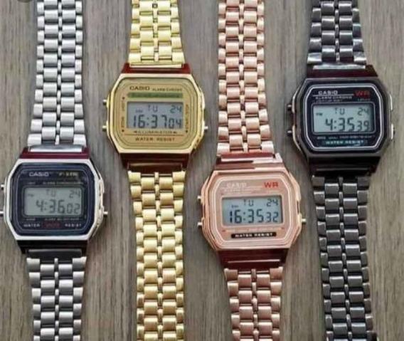 Kit Relógio Cássio Retro 10 Unidade