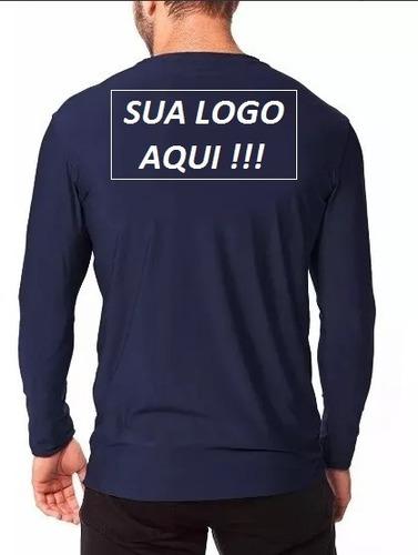 Imagem 1 de 9 de 7 Camiseta Com Sua Logomarca Proteçao Solar Uv 50 Blusa