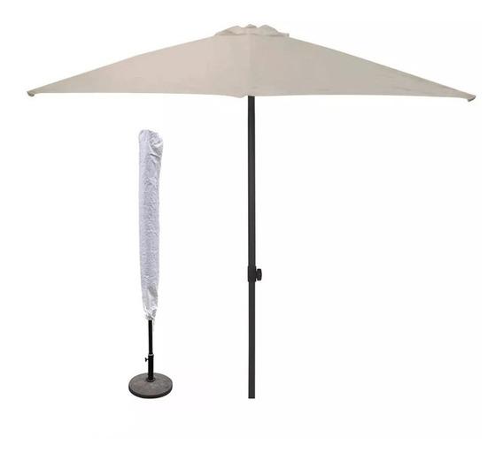 Ombrelone Central Protege Do Sol 2,70m Proteção Uv Com Capa