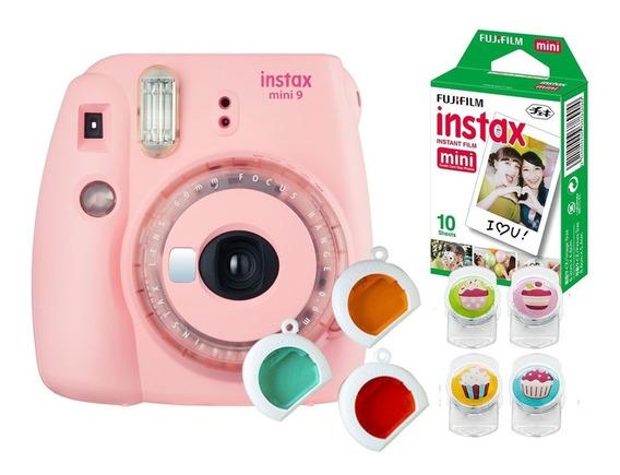 Câmera Fujifilm Instax Mini9 Rosa Chiclé + Acessórios