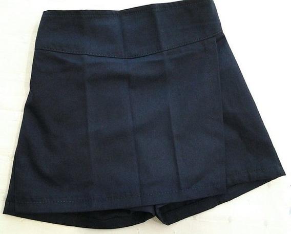 Pollera Pantalon Colegial Gabardina, Talle 6 Al 16