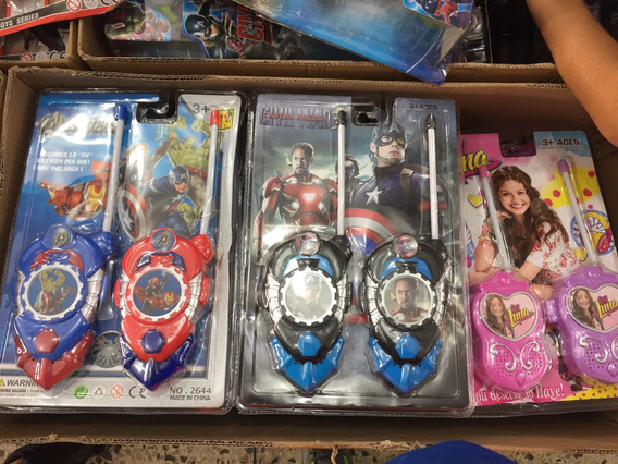 Radios Walkie Talkies Soy Luna Spiderman Vengadores