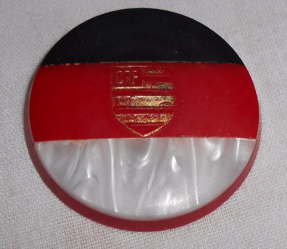 Futebol De Botão Galalite: Flamengo 3,9cm Diâm / 0,5cm Esp