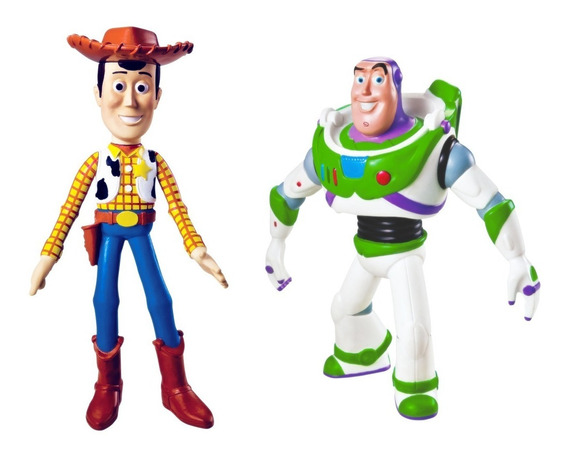 Kit Toy Story Bonecos Woody E Buzz Lightyear Disney - Líder