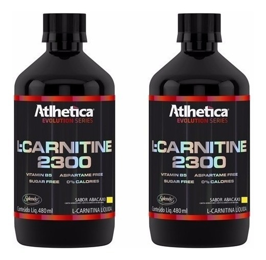 Combo 2x - L-carnitina 2300 480ml - Evolution - Atlhetica