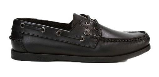 Zapatos Ringo School 10 Nautico Escolar Cuero Negro Abc Dep