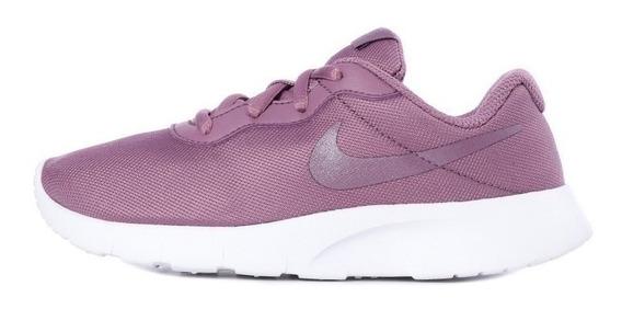 Tenis Original Nike Tanjun Morado Blanco Niños 818385-504