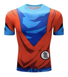 Camiseta Compresion Gym Dragon Ball Goku Gimnasio Crossfit