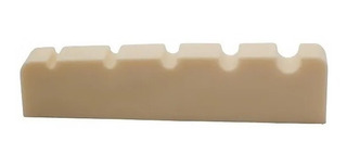 Musiclily Ranurada da Plano Cejuela Superior Cejilla de Hueso para Bajo de 4 Cuerdas 42x3,2x4,6//4,8//4,6mm 2 piezas