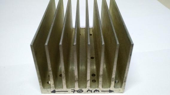 Dissipador Em Aluminio 110x57x76mm Peso 0,447 Kg