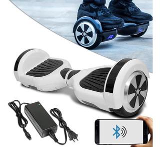 Hoverboard Skate Elétrico Roda 6.5 Bluetooth Branco