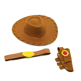 Kit Acessorios Woody Chapeu Toy Story Toyng Novo