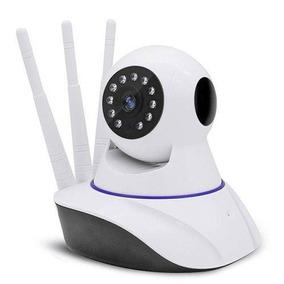 Camera Ip Wifi Com 3 Antenas Onvif Hd P2p 360