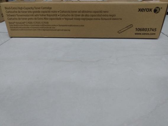 Toner Xerox C7020 Preto Original 106r03745