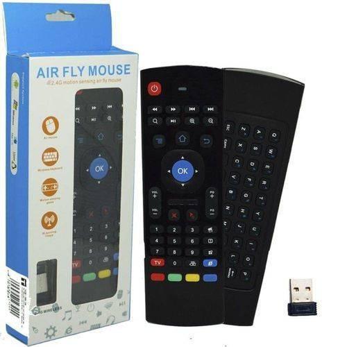 Air Mouse E Teclado Wireless Controle Remoto Tv Pc T2