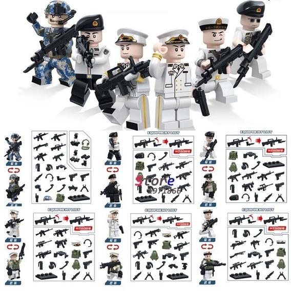 Soldados Segunda Guerra Mundial Do Gênero Lego