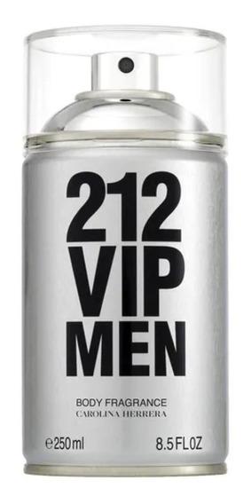 Carolina Herrera 212 Vip Men Masculino Body Spray 250ml