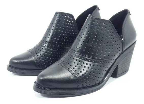 Savage Zapato Botineta Texana Charrito Picado Dama 35 Al 40