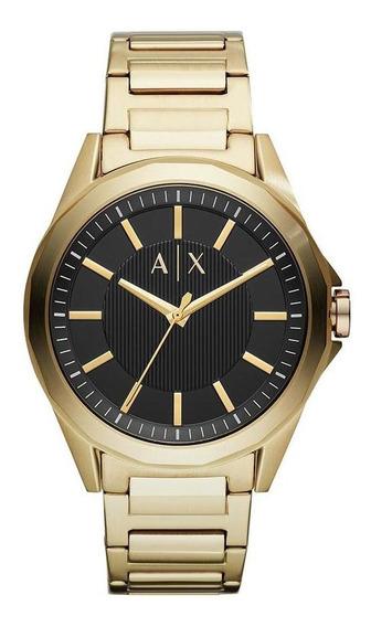 Relógio Masculino Armani Exchange Drexler Dourado - Original