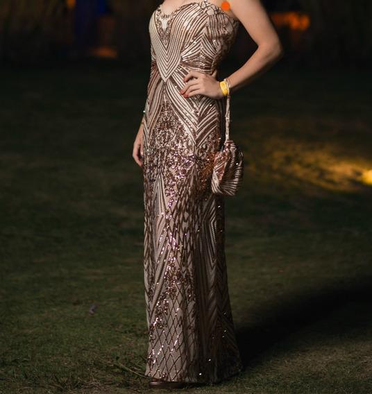 Vestido De Fiesta Lentejuelas Egresadas Casamiento Etc.