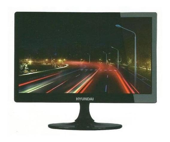 Monitor Led Hyundai 15 / Full Hd / Vga / Hdmi - Preto